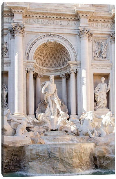 Trevi Fountain in Afternoon Light I Canvas Art Print