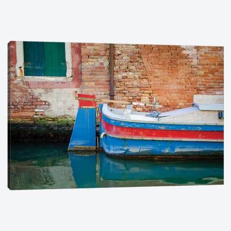Venice Workboats I Canvas Print #LAD9} by Laura DeNardo Canvas Artwork