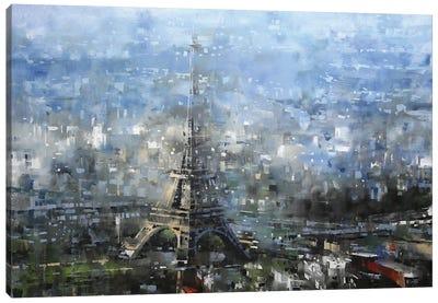 Blue Paris Canvas Art Print