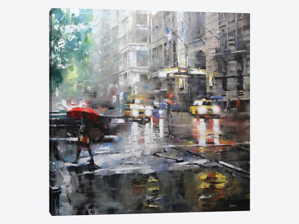 Manhattan Red Umbrella Art Print By Mark Lague Icanvas