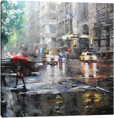 Manhattan Red Umbrella Canvas Art Print