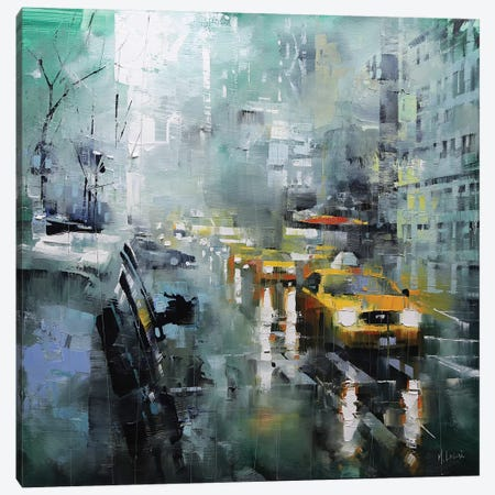 New York Rain Canvas Print #LAG3} by Mark Lague Art Print