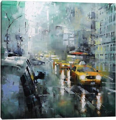 New York Rain Canvas Print #LAG3
