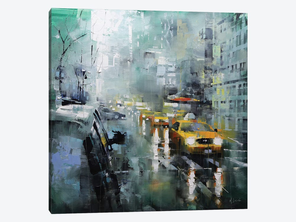 New York Rain by Mark Lague 1-piece Art Print