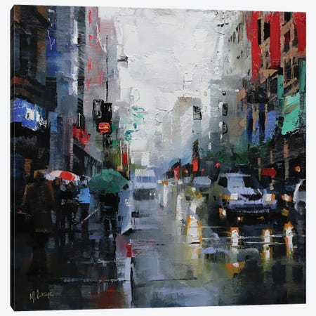St. Catherine Street Rain Canvas Print #LAG4} by Mark Lague Canvas Art