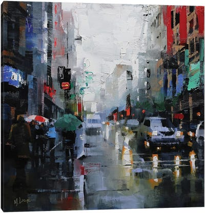 St. Catherine Street Rain Canvas Art Print