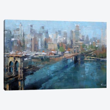 Brooklyn Bridge Canvas Print #LAG5} by Mark Lague Canvas Artwork