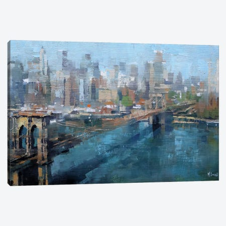 Brooklyn Bridge Canvas Print #LAG5} by Mark Lague Canvas Artwork