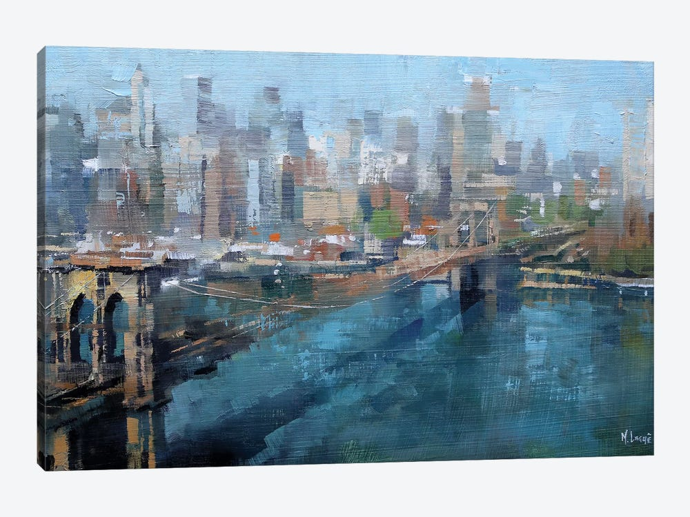 Brooklyn Bridge by Mark Lague 1-piece Canvas Art Print