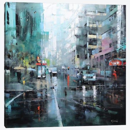 Montreal Turquoise Rain Canvas Print #LAG6} by Mark Lague Canvas Art