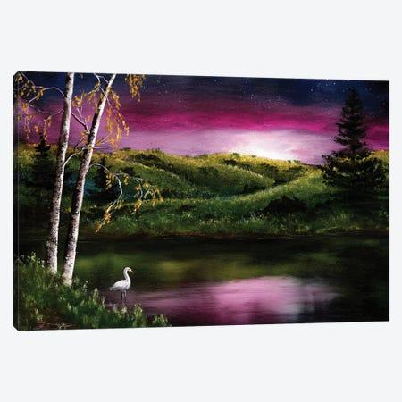 Twilight At Vasona Lake Canvas Print #LAI108} by Laura Iverson Canvas Print