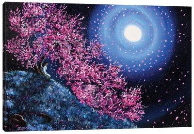 White Tara In Cascading Sakura Canvas Art Print