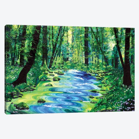 Enchanted Woodland Canvas Print #LAI117} by Laura Iverson Canvas Art Print