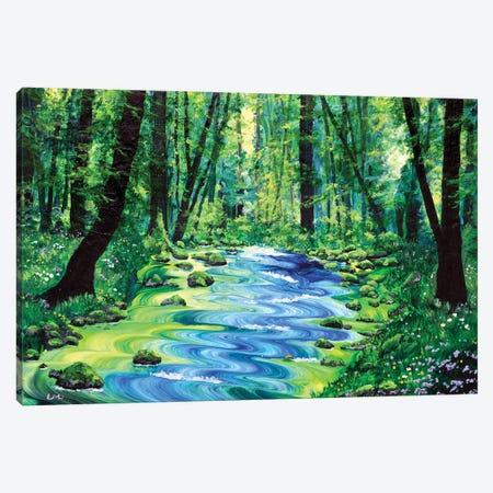 Enchanted Woodland Canvas Print #LAI117} by Laura Iverson Canvas Art Print