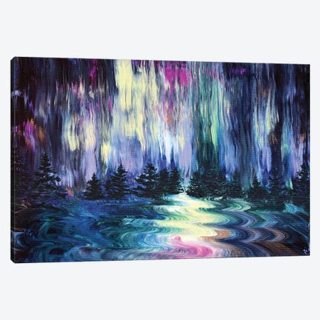 Aurora Borealis In The Rain Canvas Print #LAI118} by Laura Iverson Canvas Wall Art