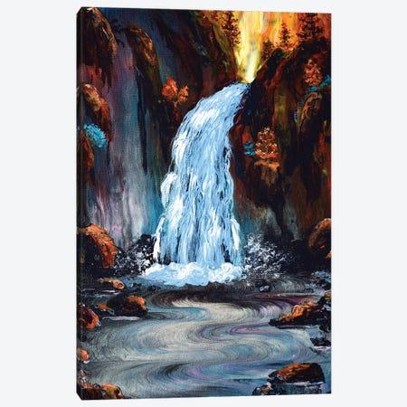 Morning At Wahclella Falls Canvas Print #LAI119} by Laura Iverson Canvas Wall Art