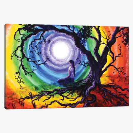 Tree Of Life Meditation 3-Piece Canvas #LAI120} by Laura Iverson Canvas Art Print