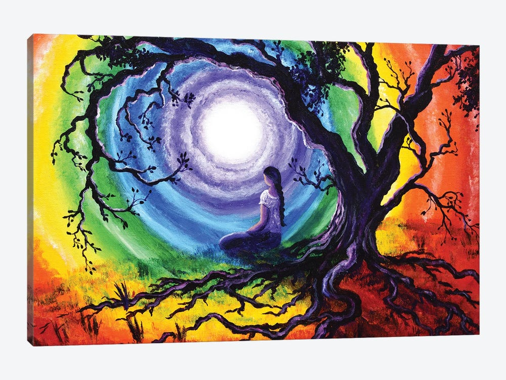 Tree Of Life Meditation by Laura Iverson 1-piece Canvas Art