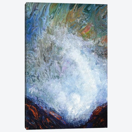 Spouting Horns At Depoe Bay Canvas Print #LAI122} by Laura Iverson Art Print