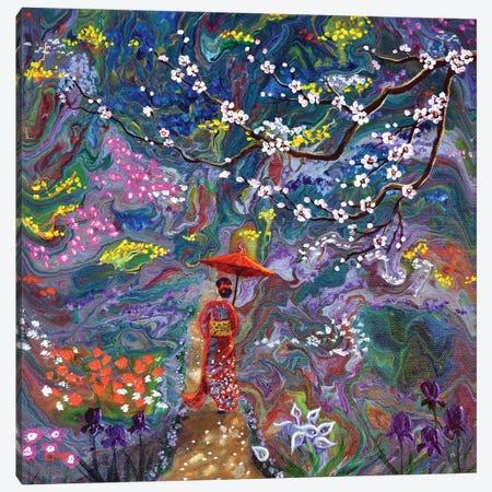Stroll Through A Mystic Garden Canvas Print #LAI123} by Laura Iverson Canvas Art Print