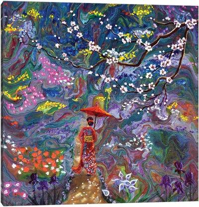 Stroll Through A Mystic Garden Canvas Art Print