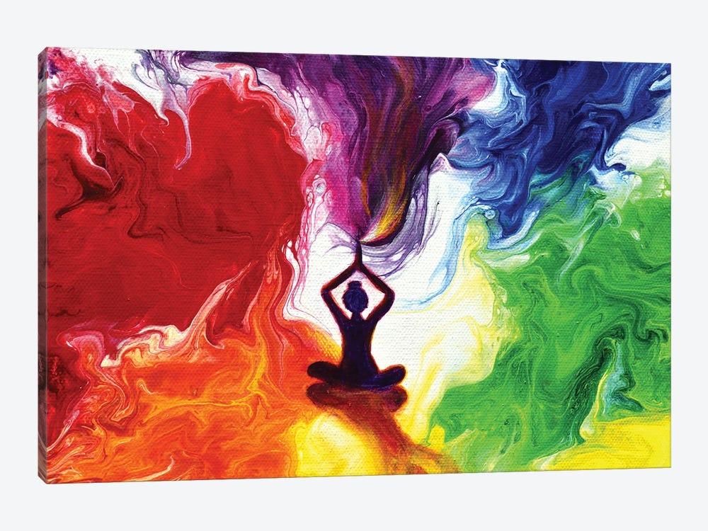 Violet Flame Tara by Laura Iverson 1-piece Canvas Art Print