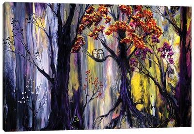 Tawny Owls And Bright Eyes Canvas Art Print