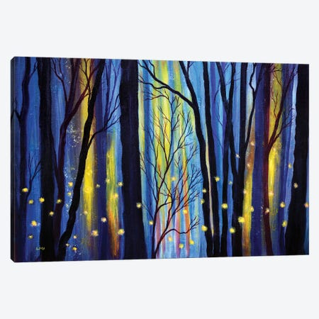 Fireflies In Winter Light Canvas Print #LAI130} by Laura Iverson Canvas Wall Art