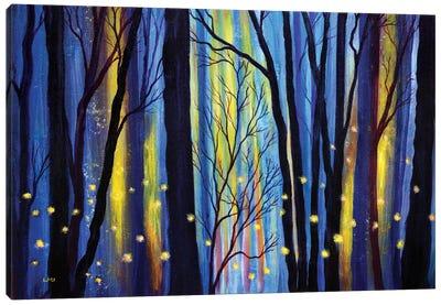 Fireflies In Winter Light Canvas Art Print
