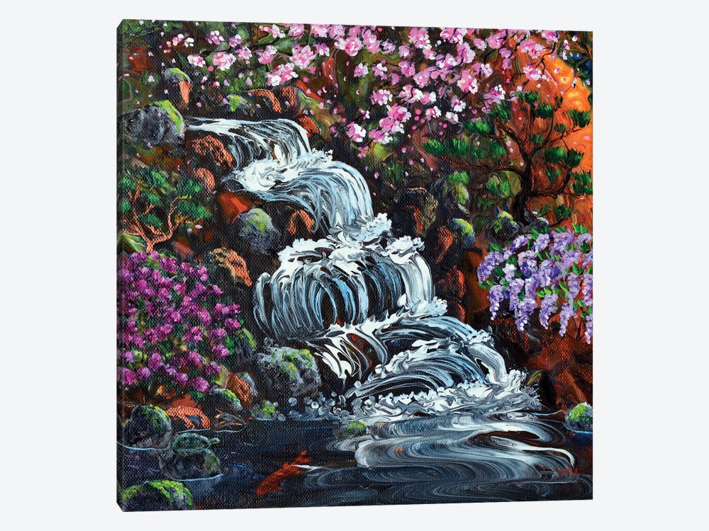 Secret Waterfall by Laura Iverson 1-piece Canvas Print