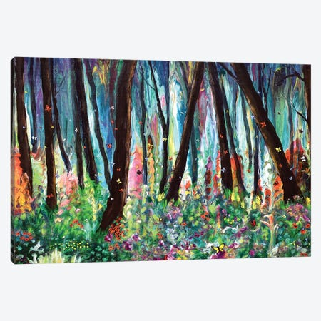 Woodland Wildflowers and Butterflies Canvas Print #LAI139} by Laura Iverson Canvas Artwork