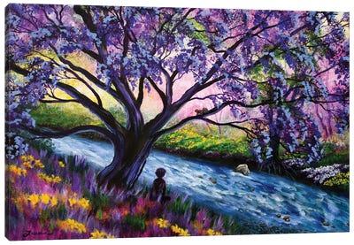 A Happy Moment Meditation Canvas Art Print