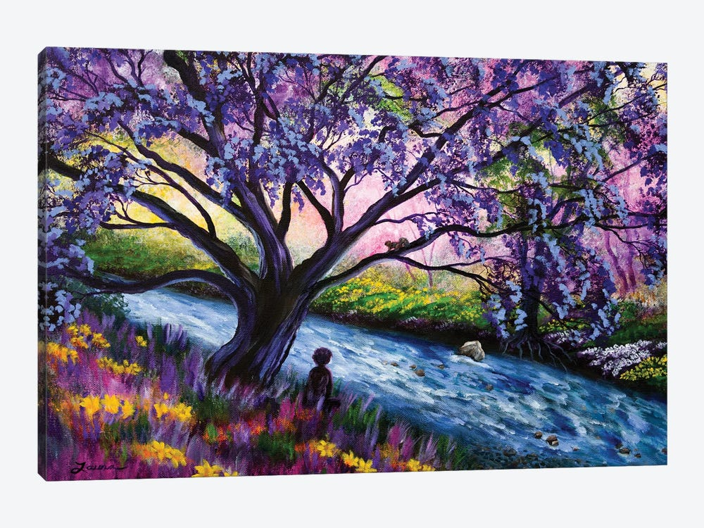 A Happy Moment Meditation by Laura Iverson 1-piece Art Print