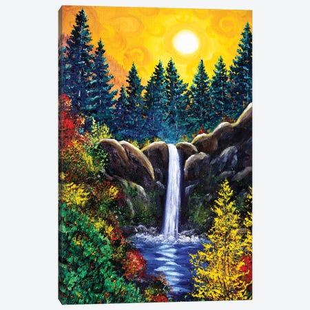 Autumn at Silver Falls Canvas Print #LAI143} by Laura Iverson Canvas Art Print