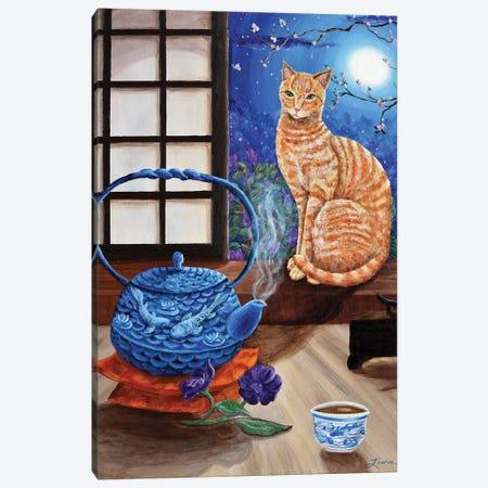Blue Moon Tea Canvas Print #LAI16} by Laura Iverson Canvas Art
