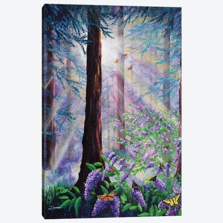 Butterfly Grove In Redwood Forest Canvas Print #LAI18} by Laura Iverson Art Print