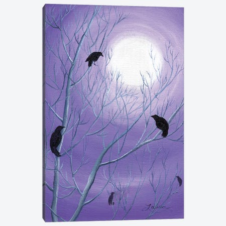 Crows On Empty Branches Canvas Print #LAI30} by Laura Iverson Canvas Print