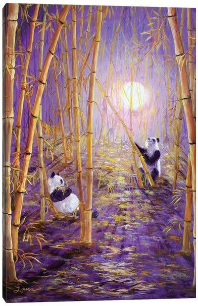 Harvest Moon Pandas Canvas Art Print