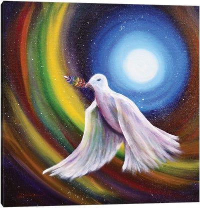 Love Is Love Peace Dove Canvas Art Print