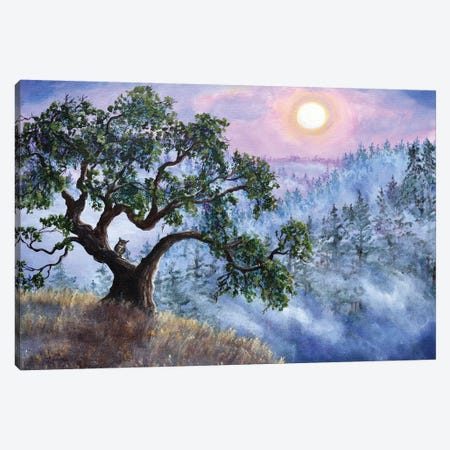 Luna In Mist And Fog Canvas Print #LAI50} by Laura Iverson Canvas Print