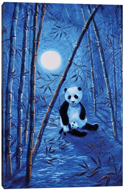Midnight Lullaby In A Bamboo Forest Canvas Art Print