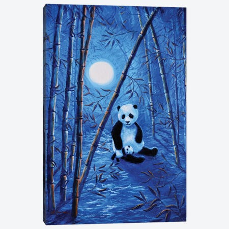 Midnight Lullaby In A Bamboo Forest Canvas Print #LAI56} by Laura Iverson Canvas Wall Art