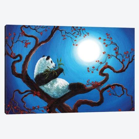 Moonlit Snack Canvas Print #LAI59} by Laura Iverson Art Print