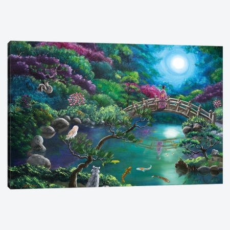 Mystical Moon Gazing Canvas Print #LAI60} by Laura Iverson Canvas Artwork