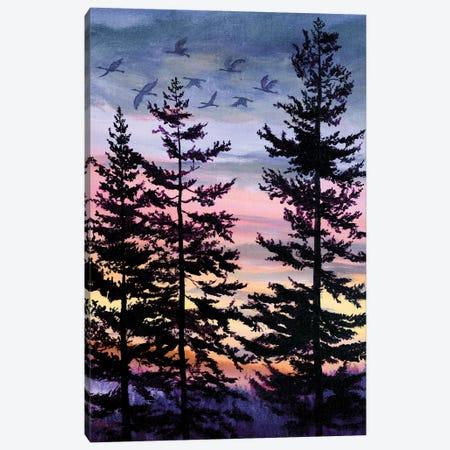 Oregon Sunset Canvas Print #LAI64} by Laura Iverson Canvas Print