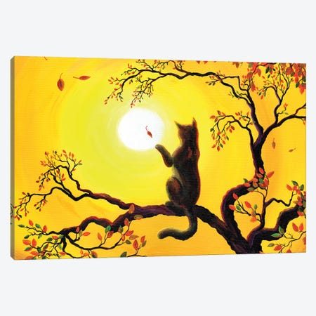 Playing On A Golden Afternoon Canvas Print #LAI68} by Laura Iverson Canvas Artwork