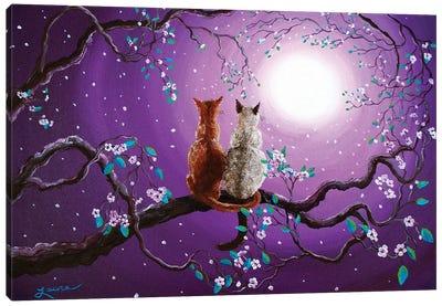 Plum Blossoms In Pale Moonlight Canvas Art Print