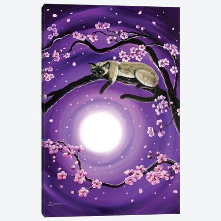 Purple Moonlight Sakura Canvas Print #LAI70} by Laura Iverson Art Print