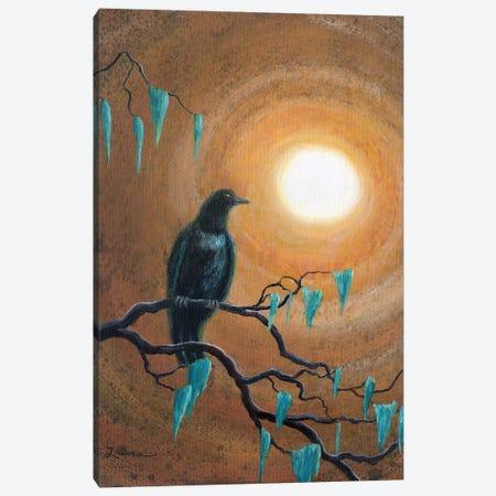 Raven In Dark Autumn Canvas Print #LAI71} by Laura Iverson Canvas Print