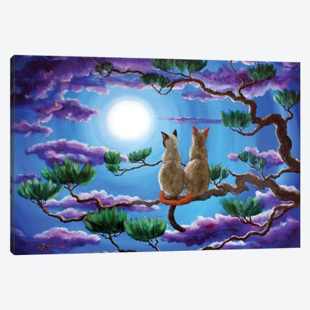 Alone In The Treetops Canvas Print #LAI7} by Laura Iverson Canvas Artwork